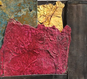 Lucia Massei, mixed media and flame gilding