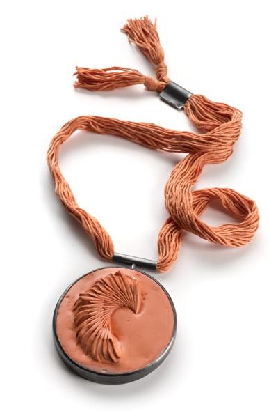 Guardian King W. - Medallion Series ceramic, silver, silk