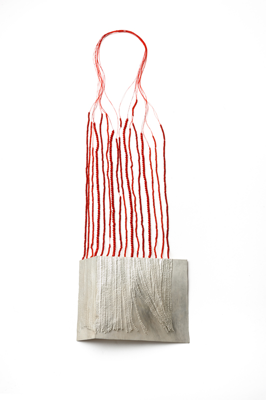 Marzia Rossi - She is gone, necklace 2011-12 silver, beads nylon thread