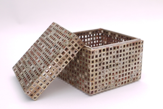 Patrick Davison, borrowed Box, mixed metal