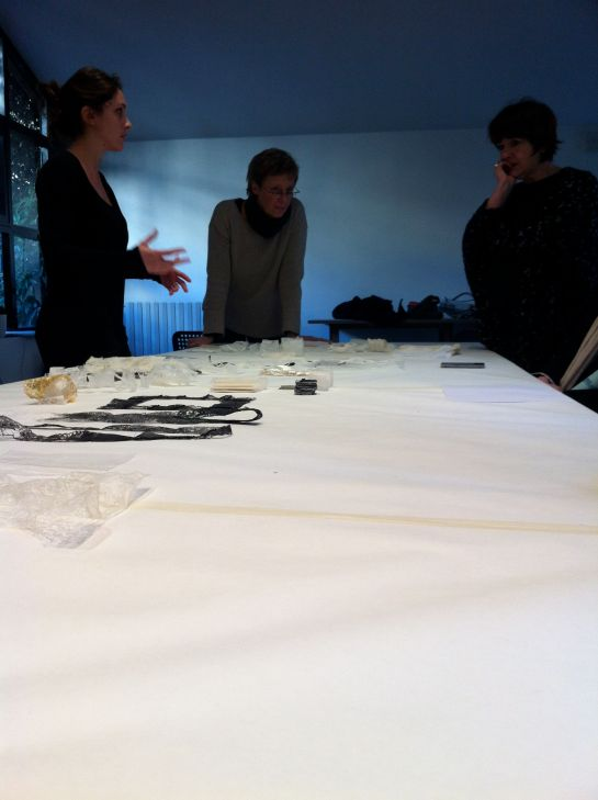 Federica Sala explaining her work