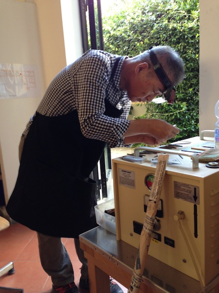 Sensei Kageyama at work in Alchimia summer 2014